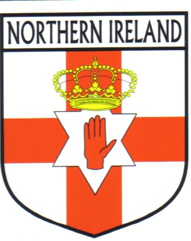Image detail for northern ireland flag crest decal sticker world flags decals world