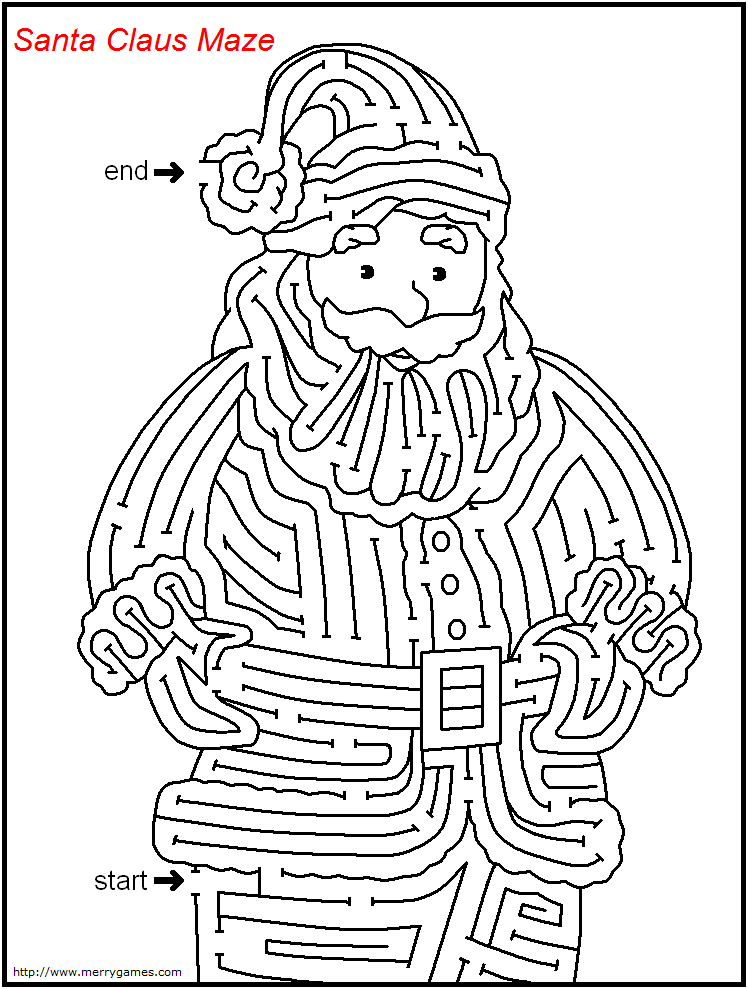 free printable christmas mazes merry games