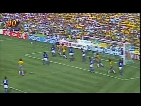 Brazil 2 vs Italy 3, World Cup 1982 - Part 1 - Shows all the first half highlights, alternating between the Brazilian and Italian broadcasts. Serginho missed an incredible opportunity a few minutes after Italy's first goal. Sigh.