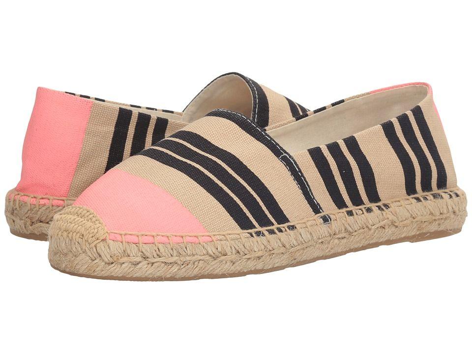 fa96a8f9c417ab SAM EDELMAN SAM EDELMAN - VERONA (NAVY PINK TRI STRIPE PRINT CANVAS)  WOMEN S 1-2 INCH HEEL SHOES.  samedelman  shoes