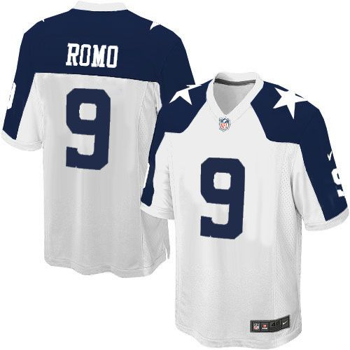 youth nike dallas cowboys 9 tony romo limited white throwback alternate nfl jersey sale russell wilson nike womens