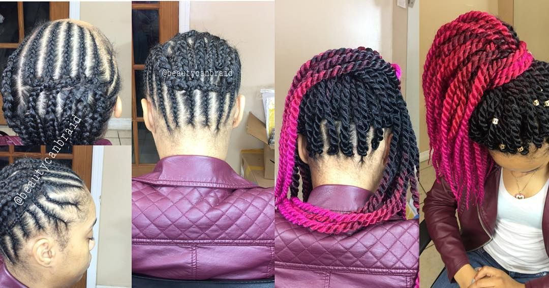 Braid Pattern For Crochet Braids That Can Be Worn Up