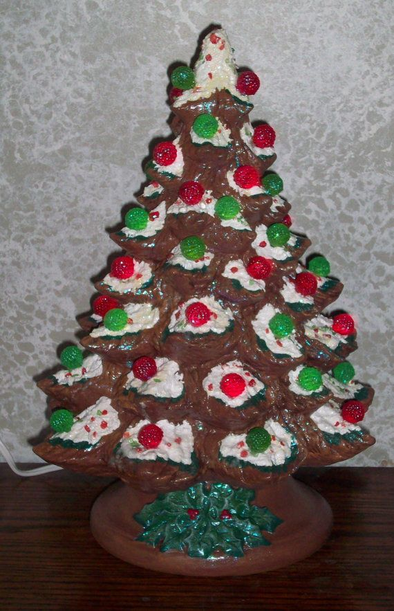 gingerbread gumdrop christmas tree ceramic lights up by ragdoll722 4995