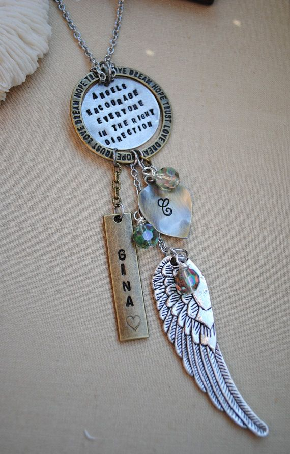 Guardian Angel Personalized Hand Stamped Remembrance
