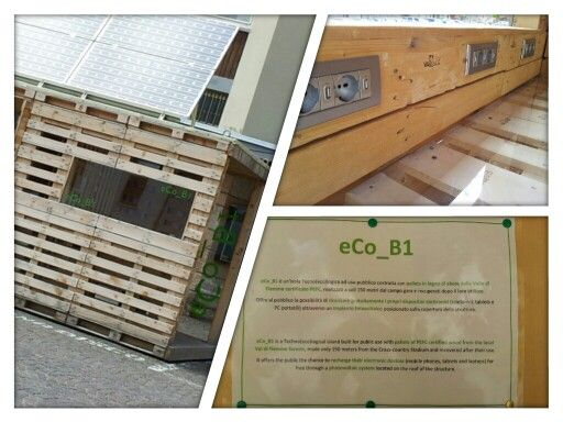 -Tecno(eco)logical island built -Recharge their electronic devices -Photovoltaic system