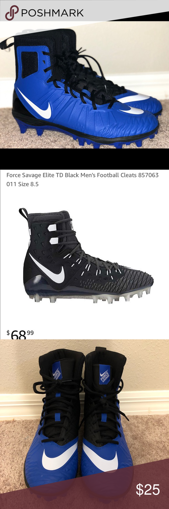 e253d43ee Size 10 · NIKE Men s Force Savage Football Cleats NIKE Men s Force Savage  Varsity Football Cleats New without tag