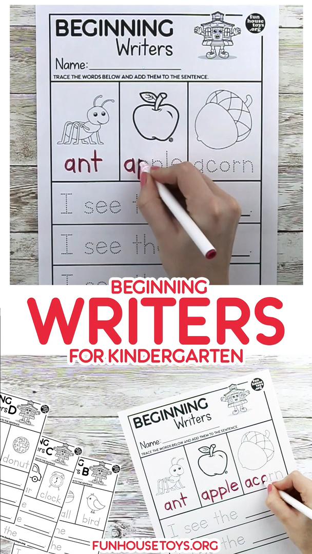 Simple Beginning Writer Worksheets for Kindergarten