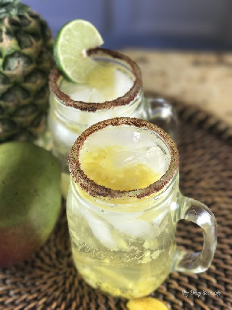 Coconut Pineapple Margarita - Basil And Bubbly