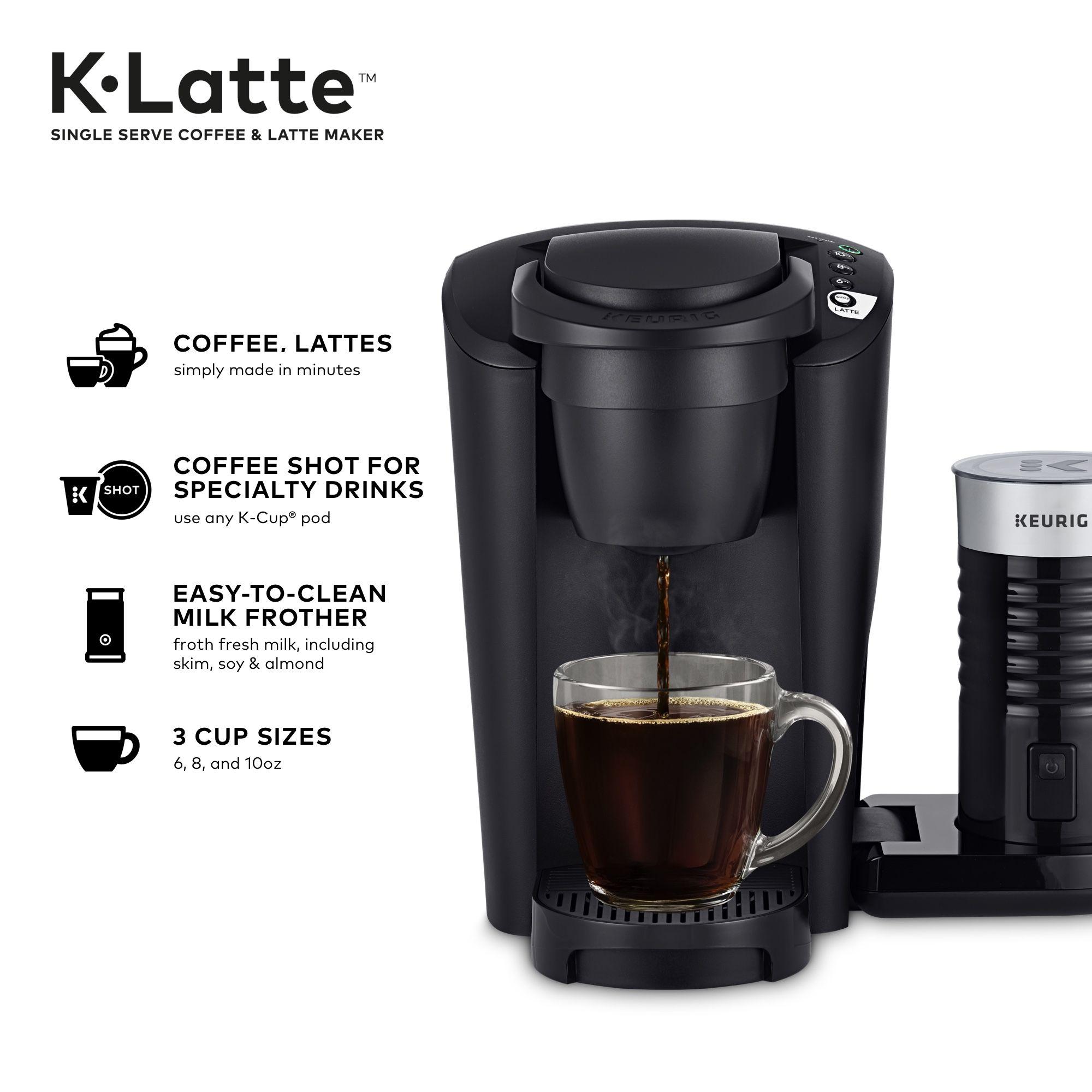Keurig KLatte Coffee Maker with Milk Frother, Compatible
