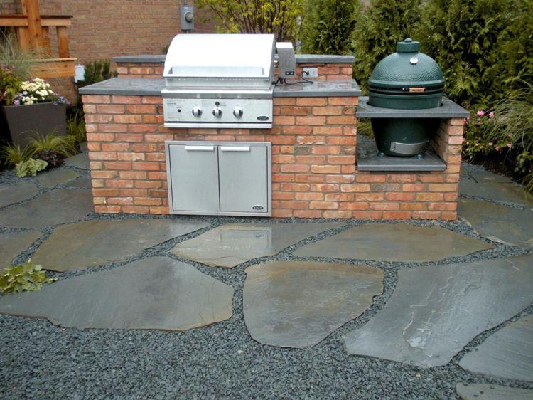 klinker-grillplatz im garten selber bauen - anleitung und tipps, Gartenarbeit ideen
