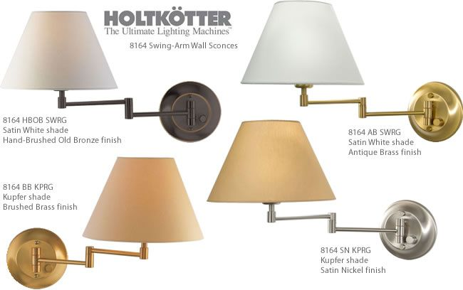 Holtkotter 8164 Swing Arm Wall Sconces Lamps Brand Lighting