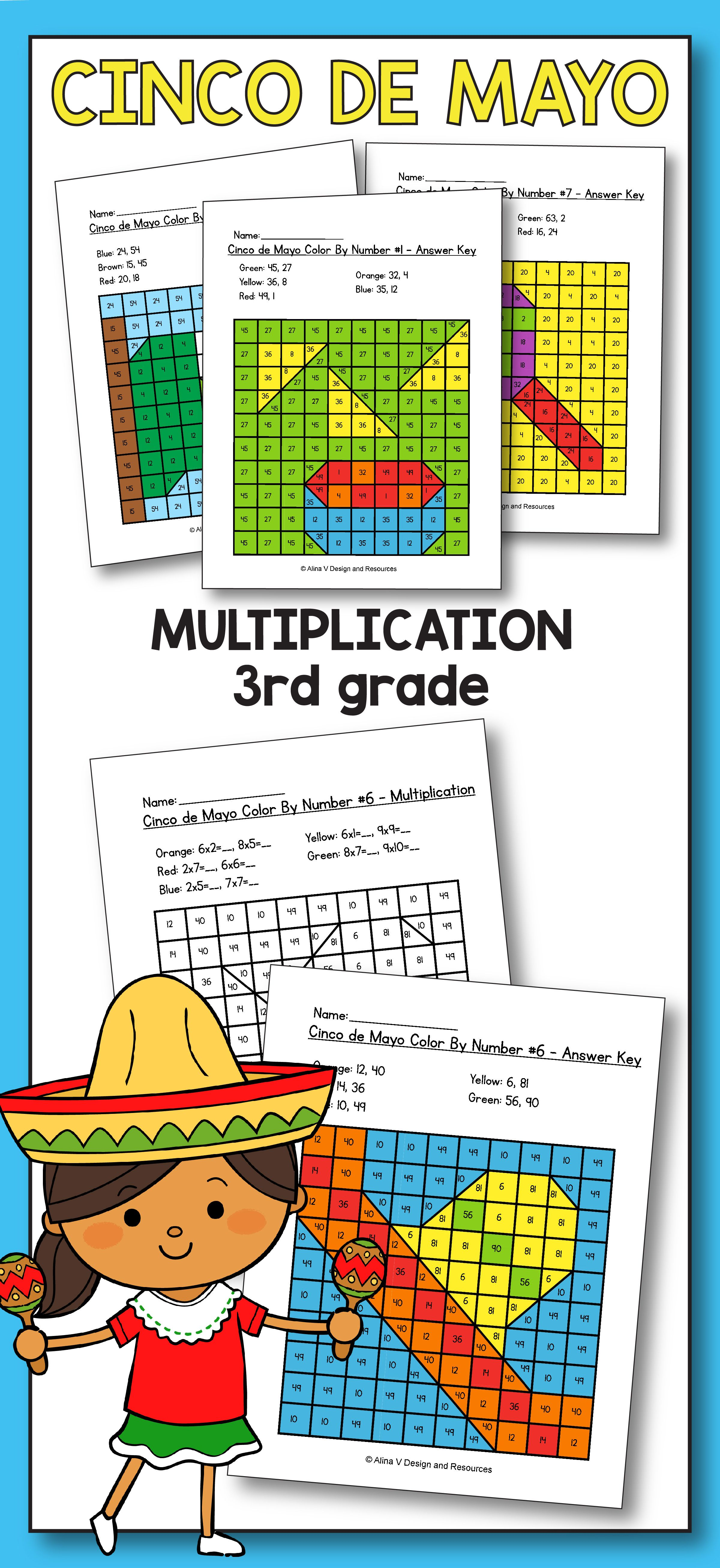 Cinco De Mayo Multiplication Math Worksheets For 3rd Grade Kids Is Fun With These Hundreds Chart Print Elementary Math Lessons Resource Classroom Cinco De Mayo [ 5224 x 2400 Pixel ]