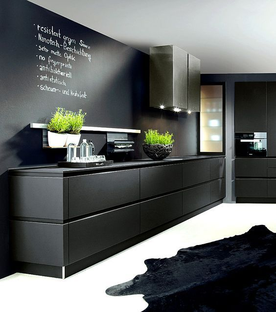 Ideas para decorar cocinas color negro ideas para for Ideas decorar pared cocina