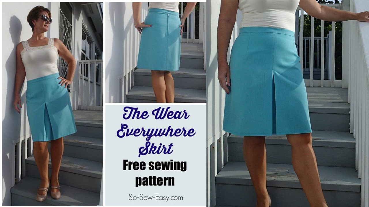 How to sew the Wear Everywhere Skirt - free pattern | Sewing ...