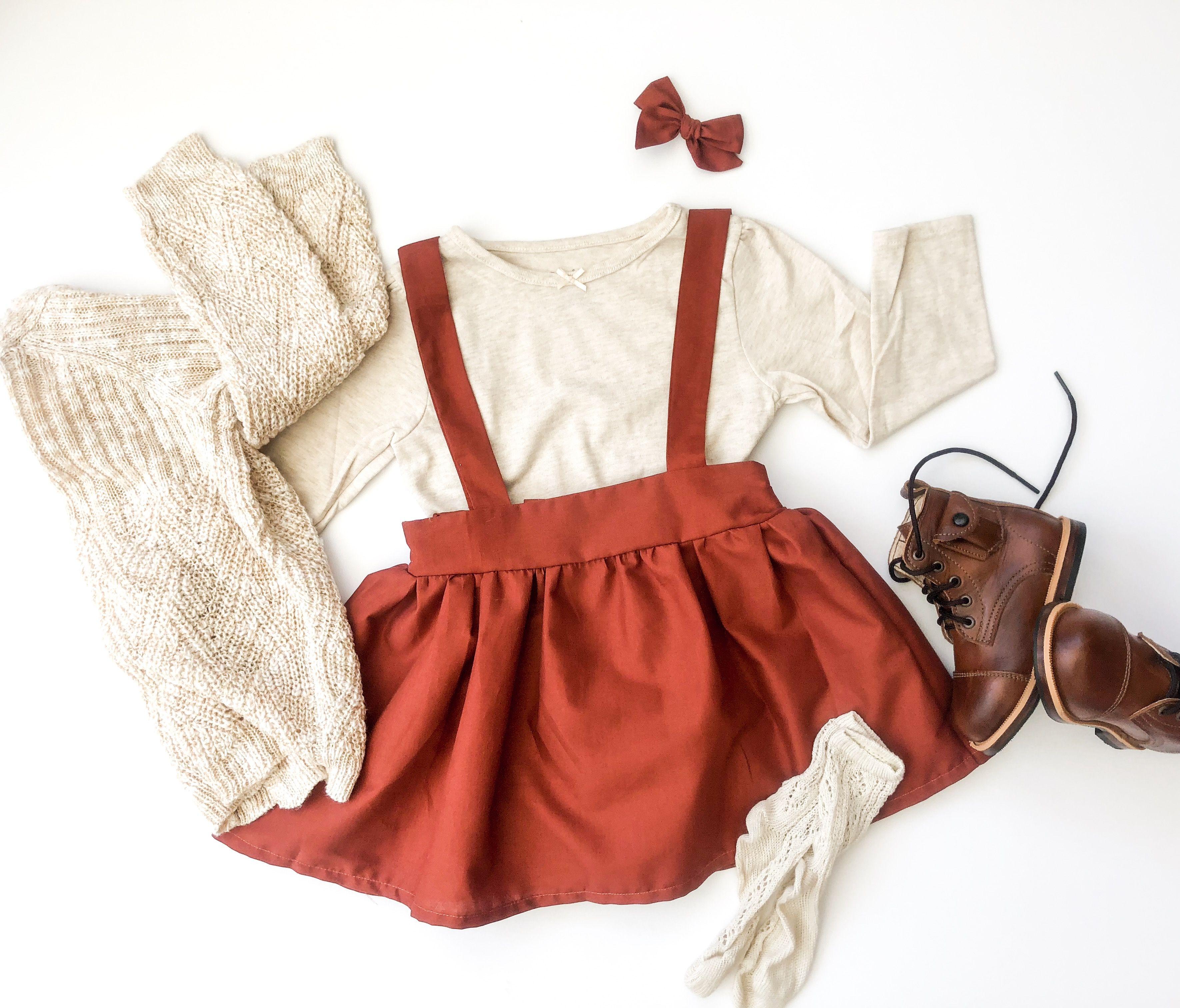 Princess Clothes Long Sleeve Suspender Skirt Floral Printing Baby Girls Dress