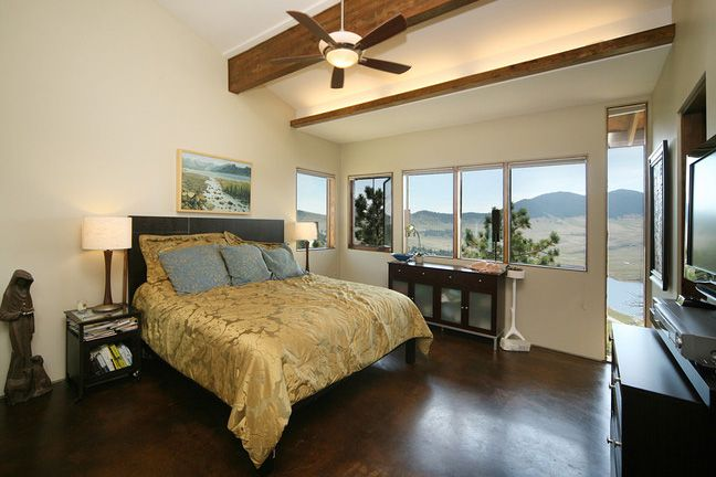 Bedroom designed by Vaught Frye Larson Architects from Fort Collins, Colorado.