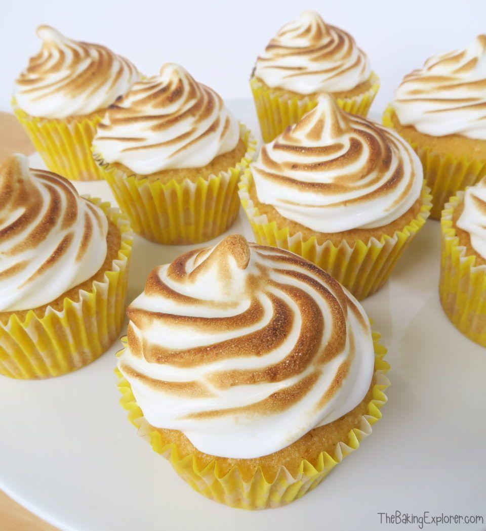 The Classic Dessert Of Lemon Meringue Pie Turned Into A Cupcake The Sponge Is Flavoured With Lemon Zest There S A Hidden Lemon Curd Centre Meringue Top