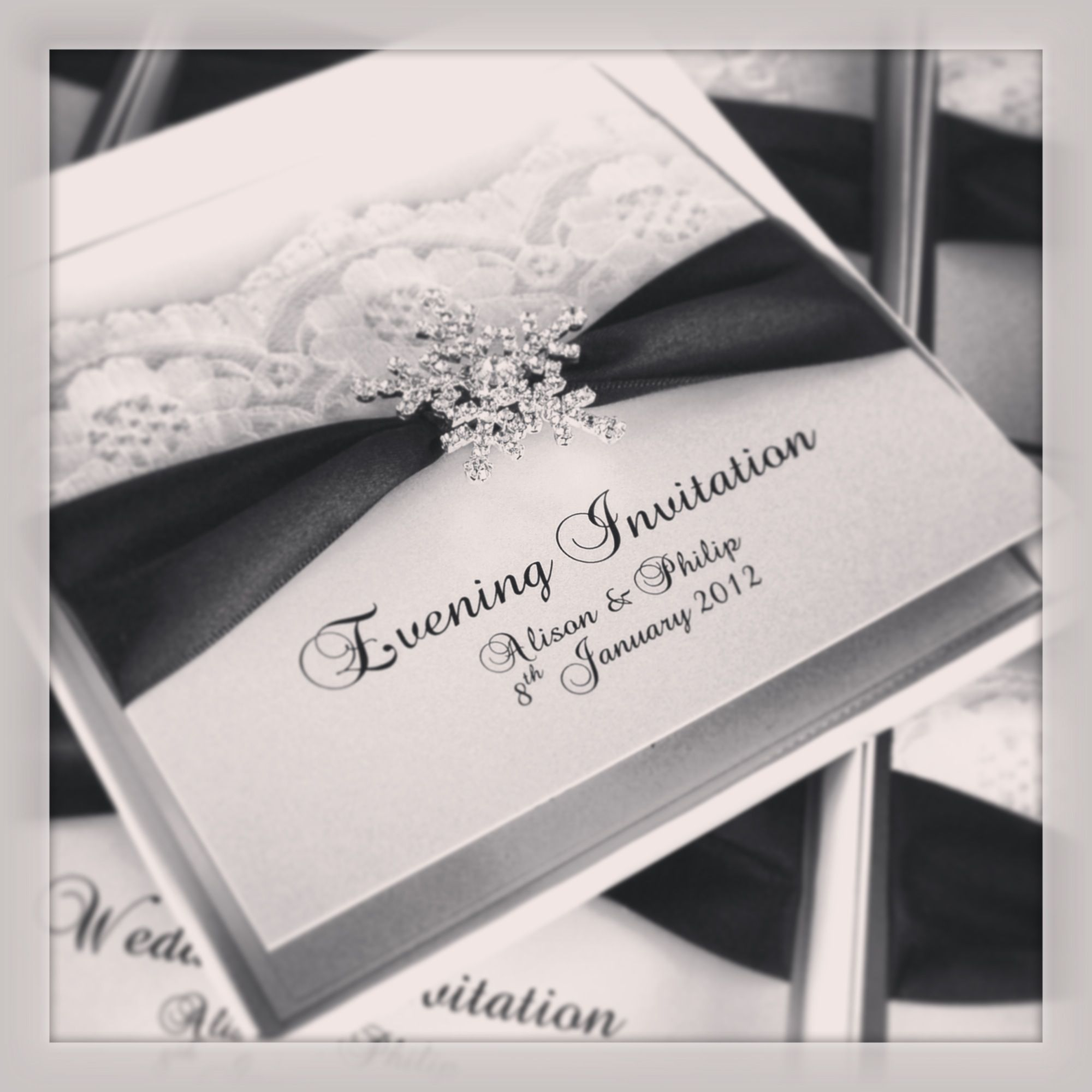 Snowflake wedding invitations | Winter Wonderland Wedding Ideas ...