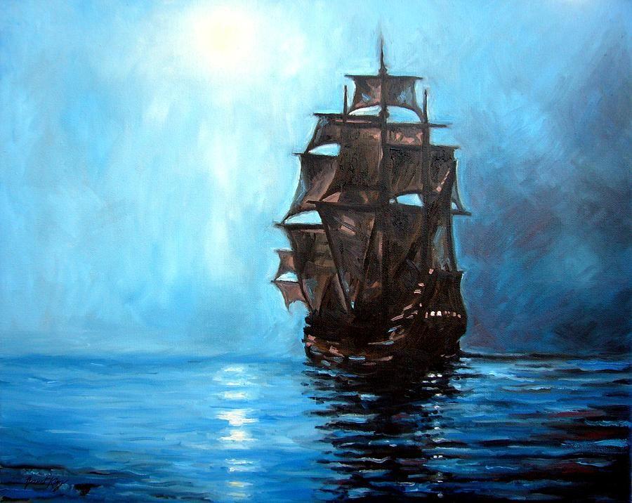 Pirate Ship Painting Inspiration Pinterest Ship Art Ship