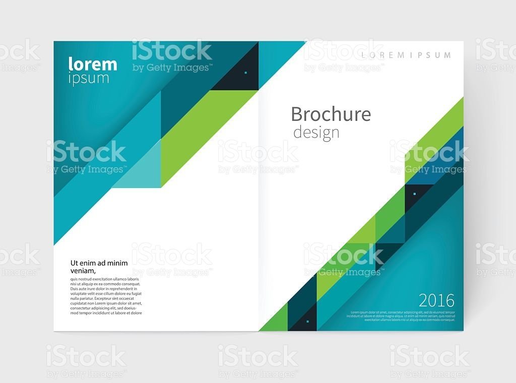 Brochure template layout collection, cover design annual report