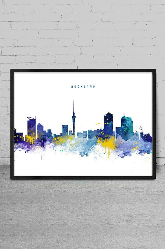 Auckland Skyline Auckland New Zealand Cityscape Art By Myvisualart
