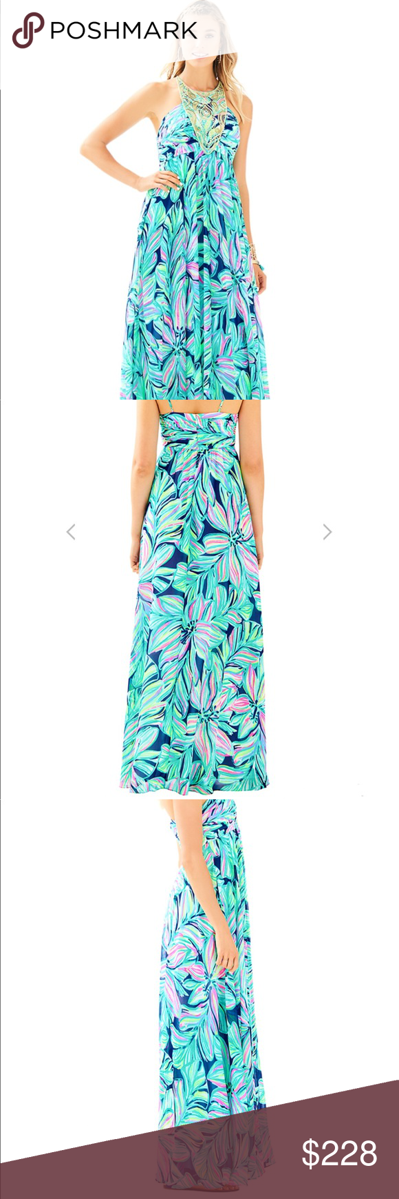 3545b134663aca NWT Lilly Pulitzer's LANNETTE MAXI DRESS NWT showstopping maxi moment. The Lannette  Maxi Dress is