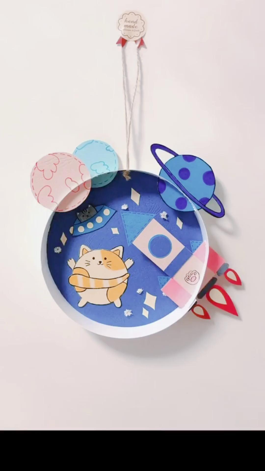 Photo of DIY Cat Rocket Planet Paper Crafts