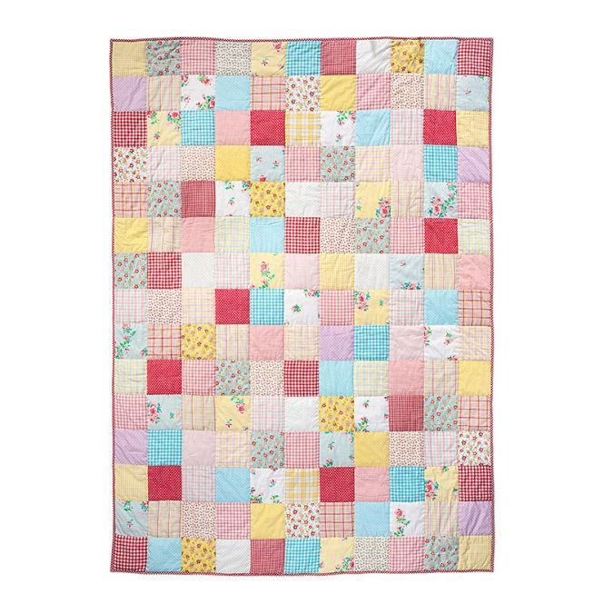 Room Seven Quilt Patchwork Multi Colour 160x220