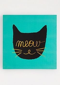 Meow Stretched Canvas