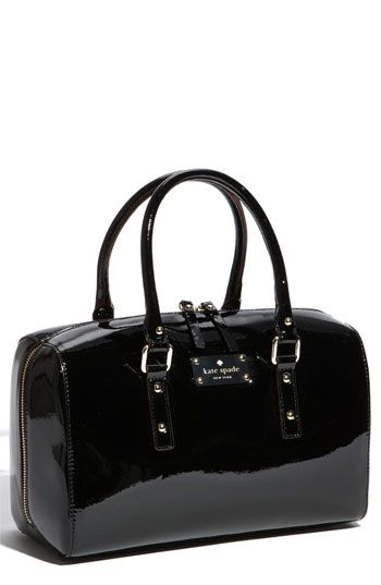 acca91e0edde Kate Spade Black Patent Leather Satchel