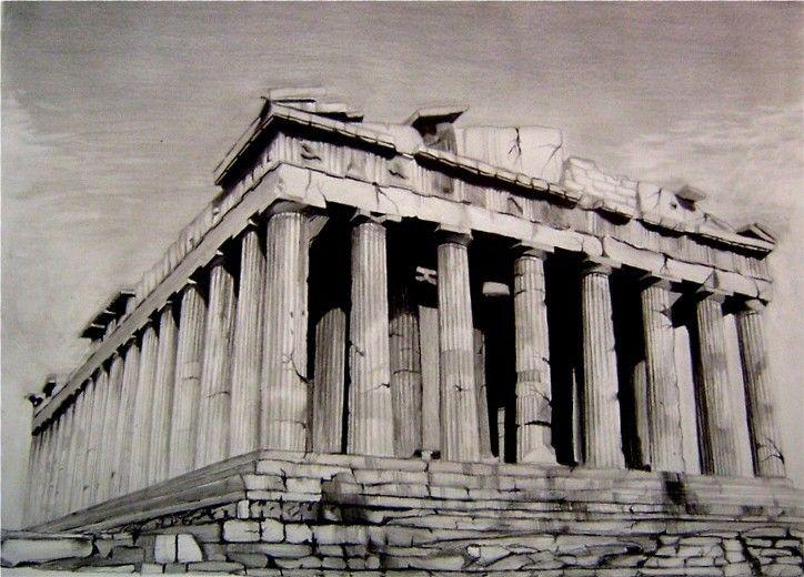 Acropolis Parthenon Parthenon Greek Parthenon Architecture Drawing