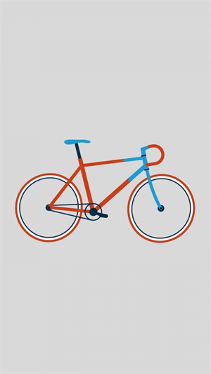 Fixed Gear Wallpaper Iphone Hipster Bike Wallpaper Vector Illustration 自転車ポスター
