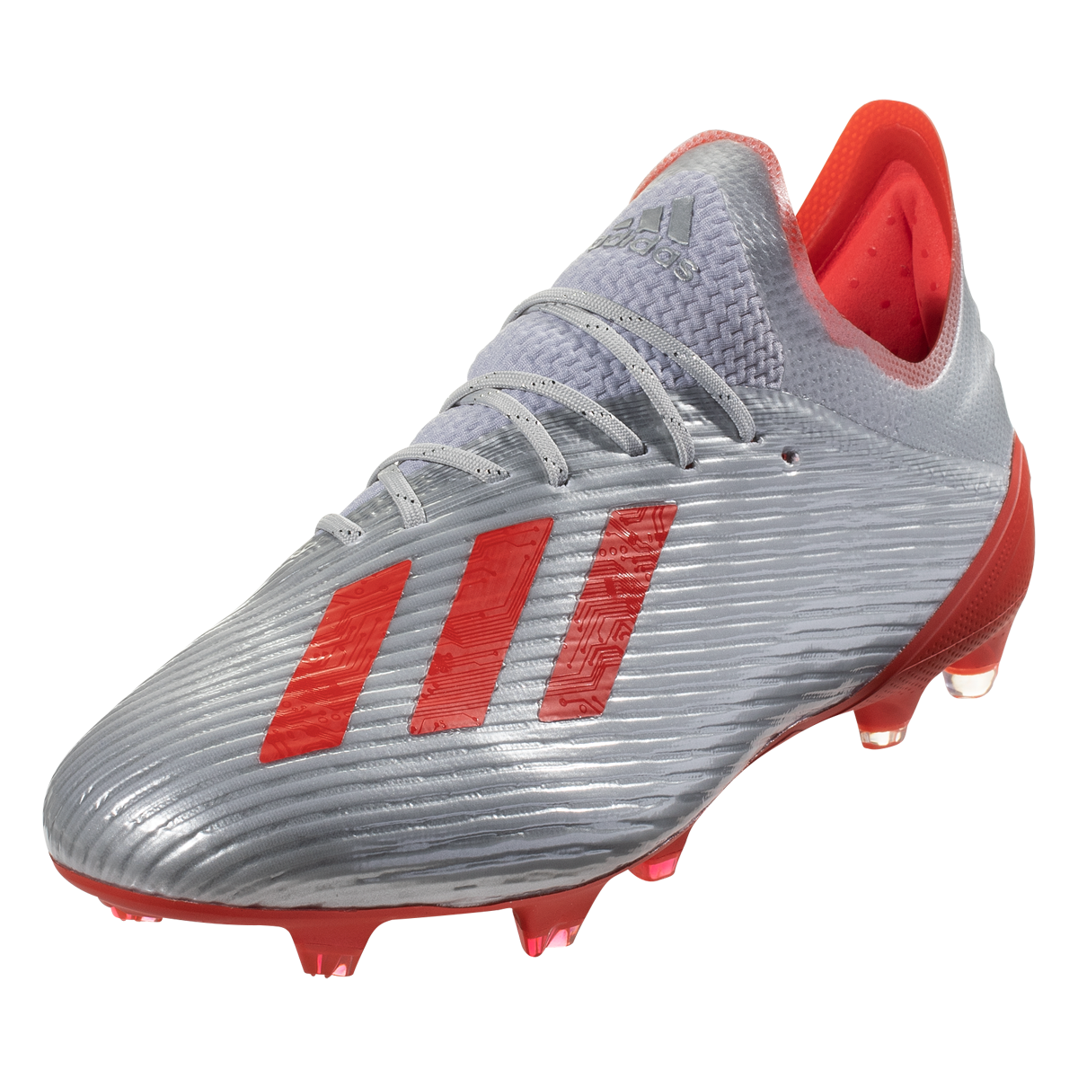 Adidas X 19 1 Fg Soccer Cleats Metallic Silver Hi Res Red White 10 5 Soccer Cleats Metallic Silver Cleats