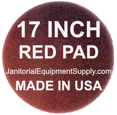 17 Inch Red Pad Polishing Buffing Pads 5 Pack Buffing Pads Pad Floor Machine