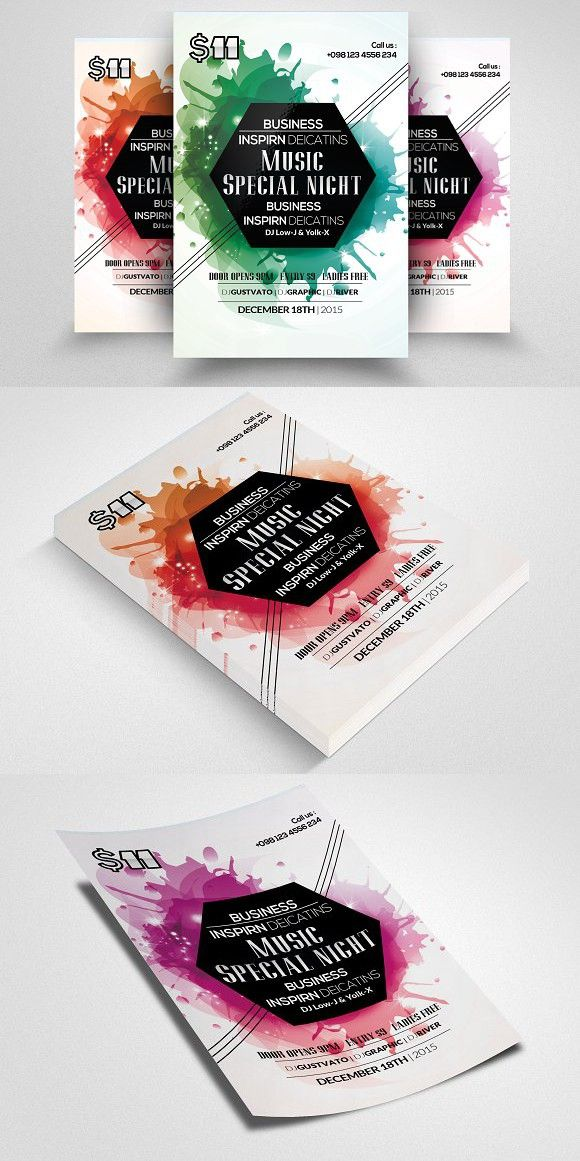 Abstract Electro Flyer Template. Creative Business Card Templates ...