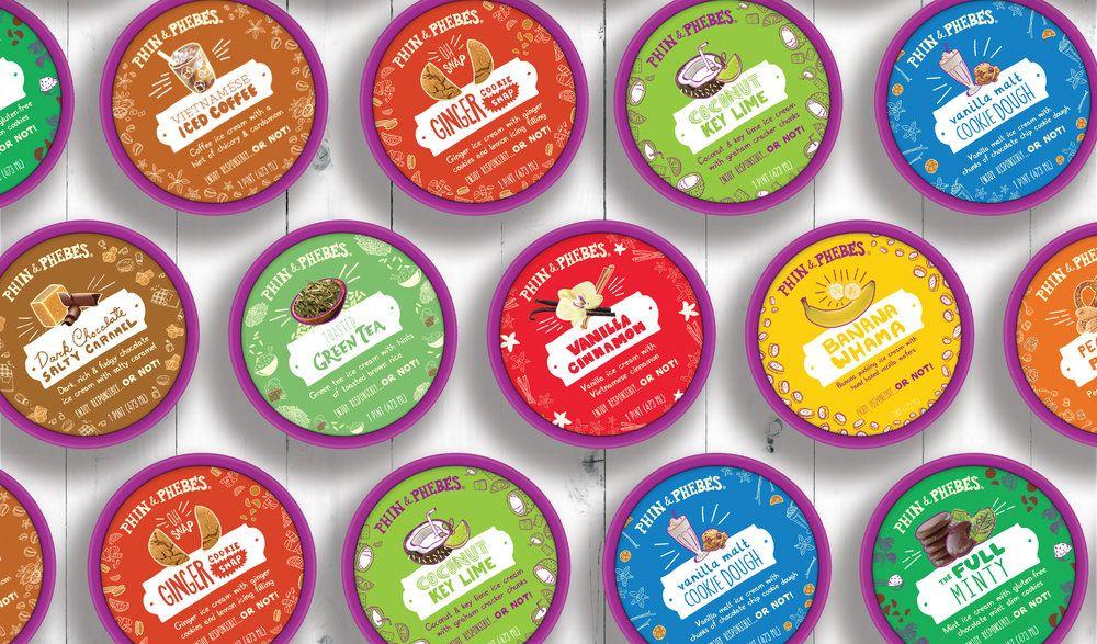 Phin phebes ice cream packaging ice cream packaging