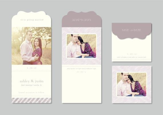 Modern Save the Date Photo Template  5x5 di designbybittersweet, $10.00