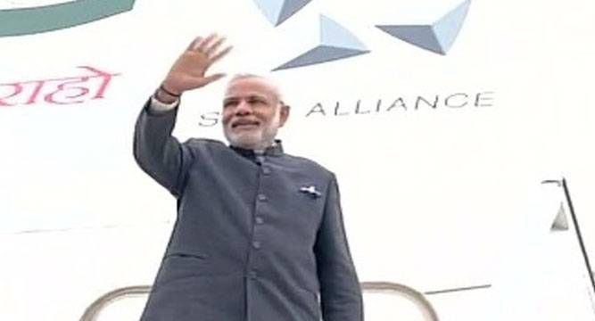 PM #Modi arrives in #Uzbekistan
