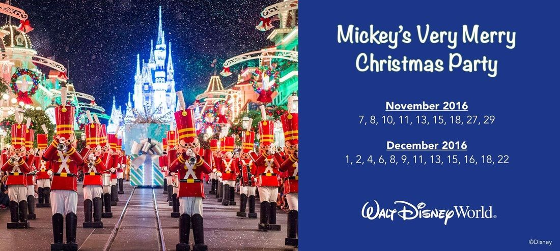 Mickey\u0027s Very Merry Christmas Party Dates are out for November and