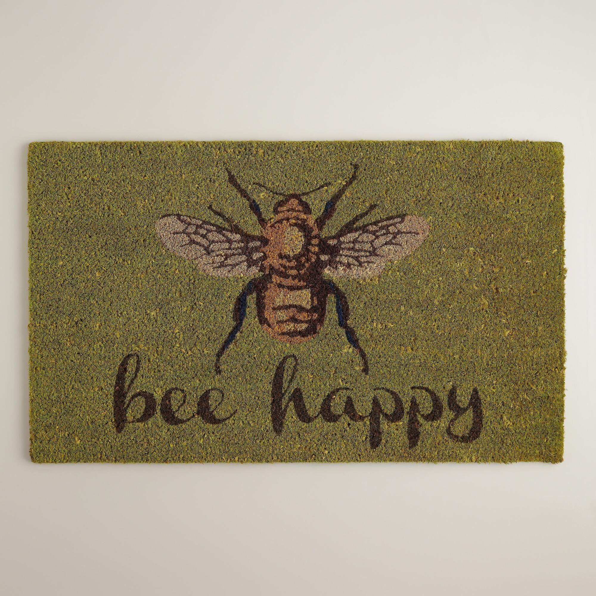 Bee Happy Doormat World Market Decor Dreams Bee Happy