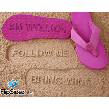 86bc55351 A black pair of these… coolness. Flip Sidez Custom Sand Imprint Flip Flops    Sandals