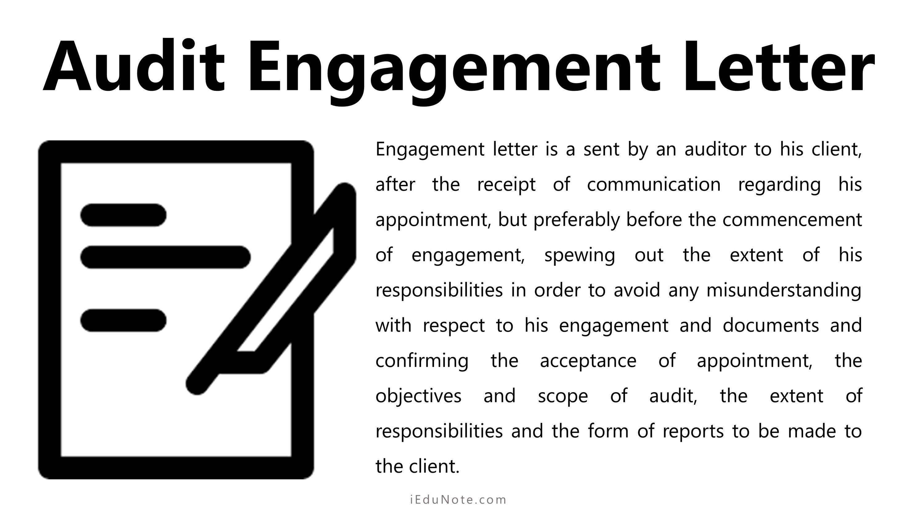 Audit Engagement Letter Engagement Letter Lettering Audit