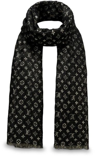 prezzo ufficiale come comprare consegna gratuita Louis Vuitton Monogram So Glitter Stole in Black | Lyst ...