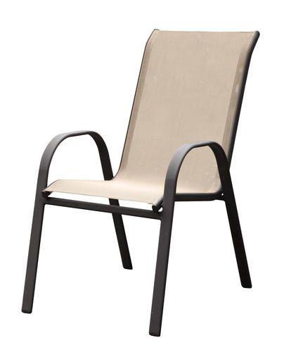 Backyard Creations Solano Stack Sling Chair At Menards Backyard Creations Sling Chair Outdoor Chairs