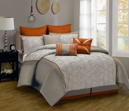 9 Piece Anderson Embroidered Comforter Set