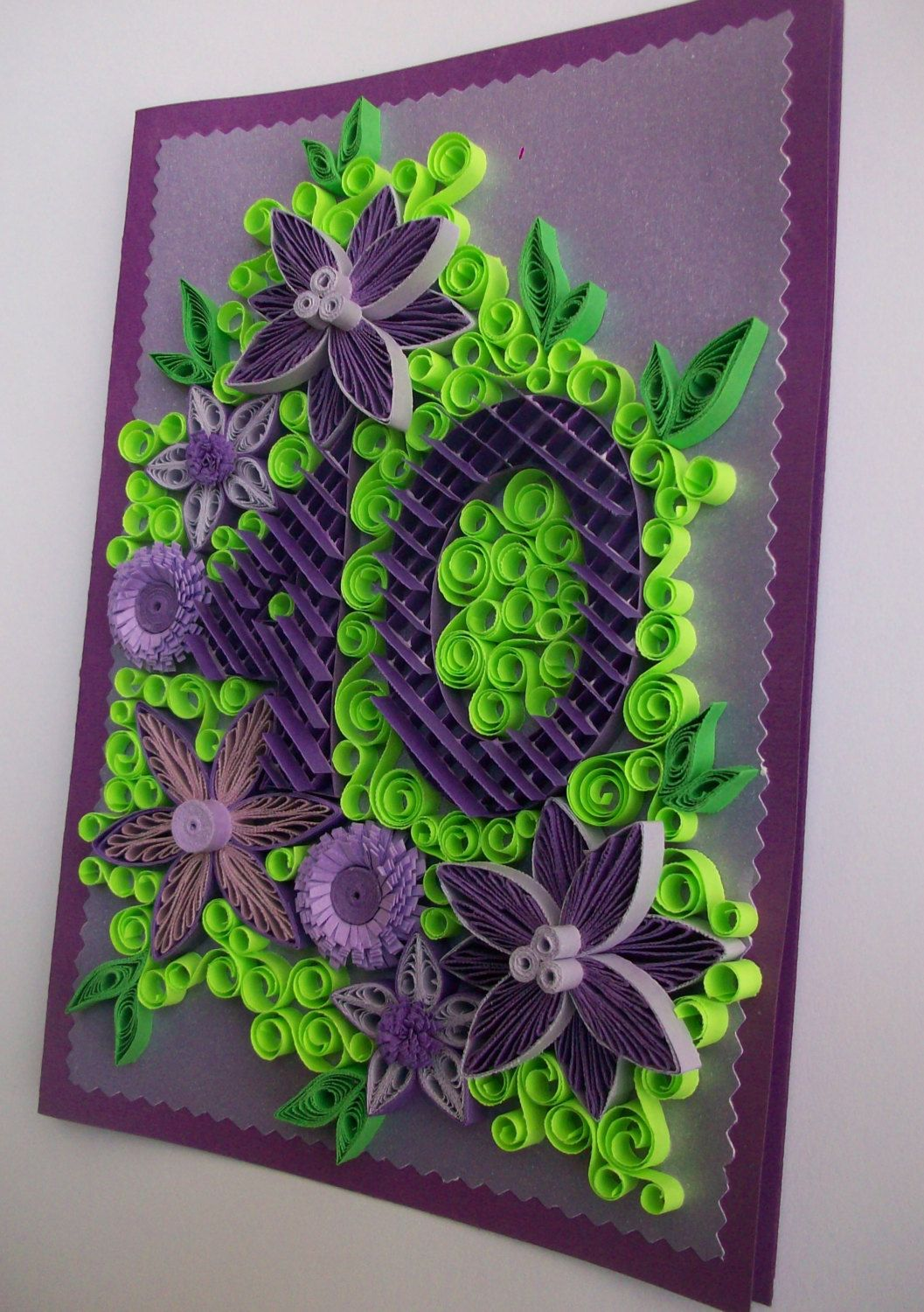 Birthday Anniversary Quilling card,  Greeting card,  Quilled Birthday card, Handmade Quilling Card,  Quilling Art Greeting Card de HandmadeTedy en Etsy