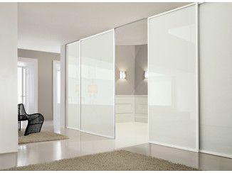 Mampara divisoria de vidrio lacado con puertas corredizas - Puertas corredizas de vidrio ...