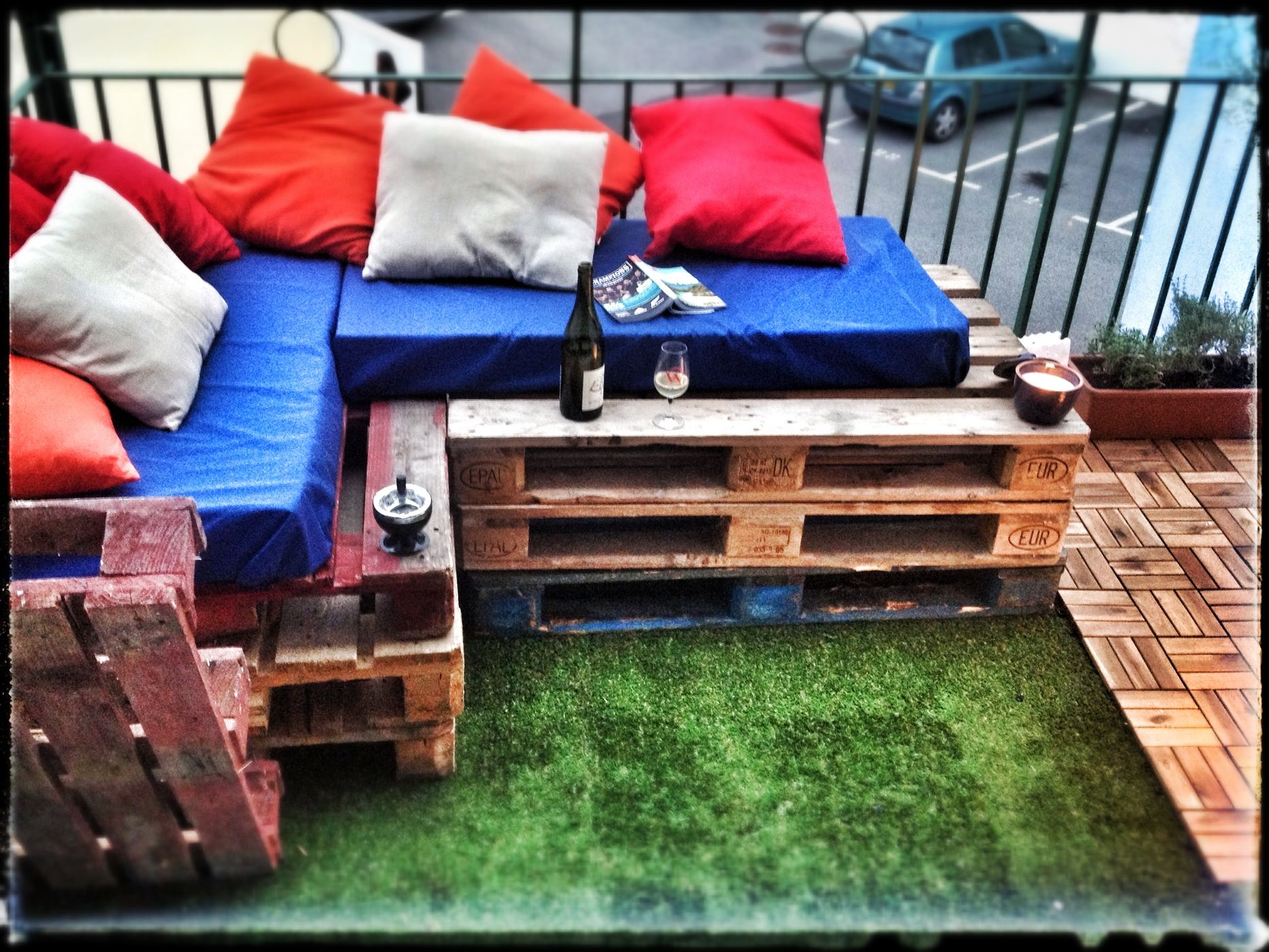 Homemade low budget patio by valunad patio ideas pinterest