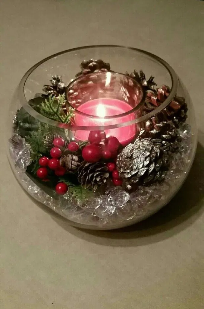 40 Trend Simple Rustic Winter Christmas Centerpiece 33 #weihnachtsdeko2019trend