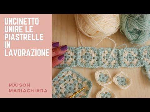 Uncinetto unire le piastrelle granny in lavorazione crochet join